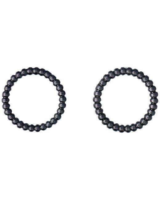 Pilgrim | Hematite Black Little Dot Earrings | Lyst