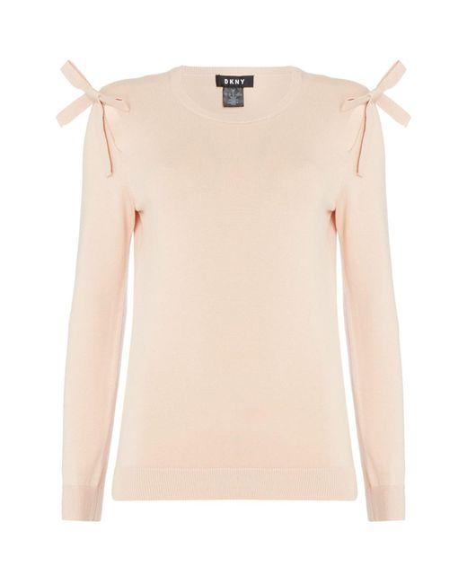 DKNY Pink Three Quarter Sleeve Pullover