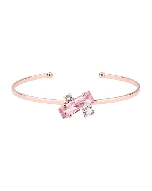 Ted Baker | Pink Britte Rose Gold Crystal Baguette Cuff | Lyst