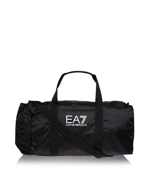 EA7 - Black Logo Holdall for Men - Lyst