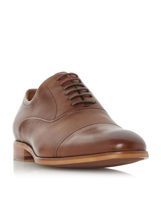 Dune | Brown Padstow Soft Leather Toecap Oxford Shoes for Men | Lyst