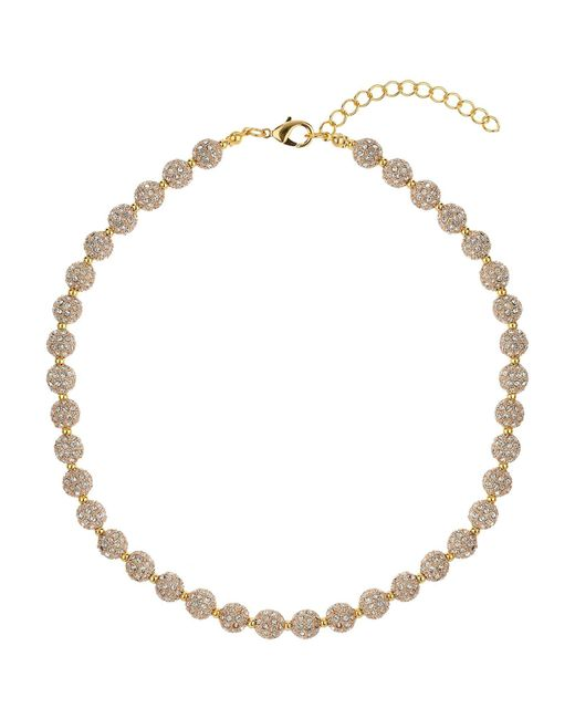 Mikey | Metallic Crystal Small Heavy Necklace | Lyst
