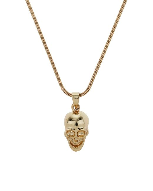 Mikey | Metallic Skull Necklace | Lyst