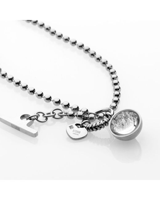 Storm | Metallic Crysta Ball Necklace | Lyst
