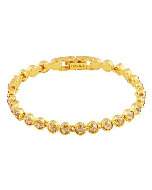 Swarovski | Metallic Tennis Bracelet | Lyst