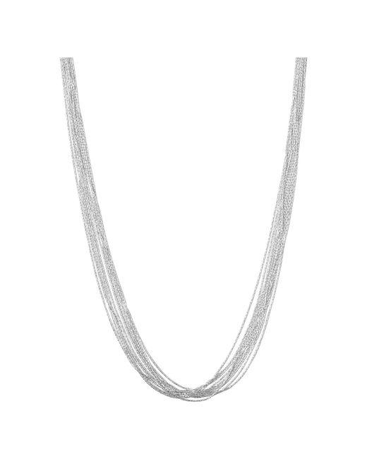 Links of London | Metallic Silk 10 Row Necklace 45cm | Lyst