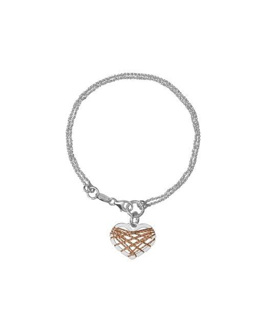 Links of London | Metallic Dream Catcher Heart Rose Gold Bracelet | Lyst