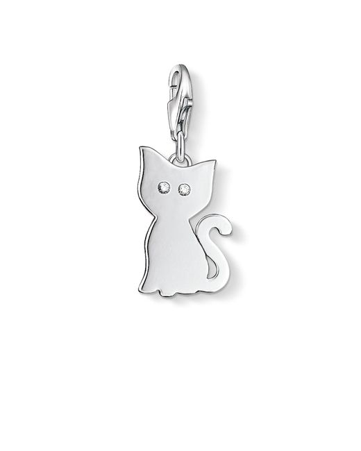 Thomas Sabo | Metallic Charm Club Cat Pendant | Lyst