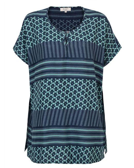 East | Blue Astrid Print Oversize Blouse | Lyst