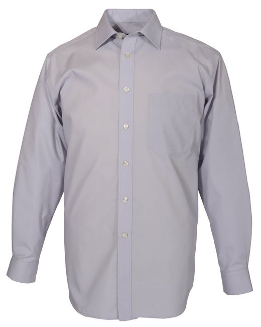 Double Two - Gray King Size Long-sleeve Non Iron Poplin Shirt for Men - Lyst