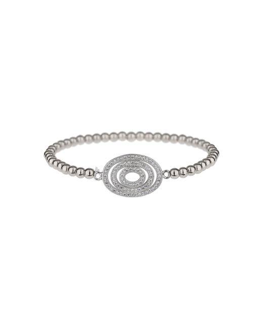 Mikey - Metallic Fine Cubic Triple Oval Elastic Bracelet - Lyst