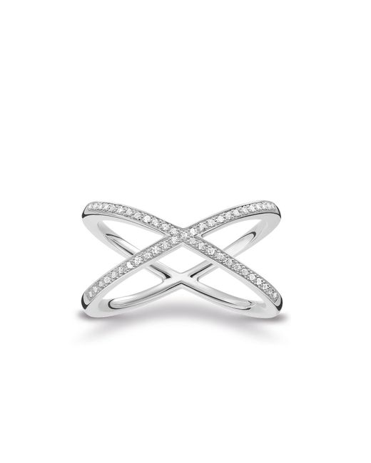 Thomas Sabo | Metallic Glam & Soul Criss Cross Diamond Ring | Lyst