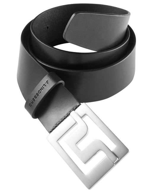 J.Lindeberg - Black Slater 40 Pro Leather Belt for Men - Lyst