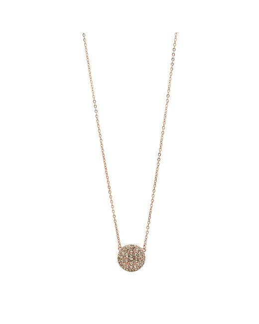 Fossil | Pink Jf00139791 Ladies Rose Iconic Glitz Necklace | Lyst