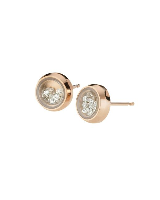 Storm | Metallic Rose Gold Mimi Earrings | Lyst