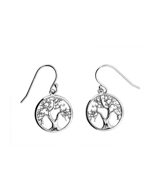 Azendi | Metallic Silver Tree Of Life Drop Earrings | Lyst