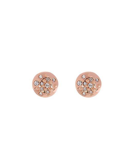 Karen Millen - Pink Crystal Sprinkle Stud Earrings - Lyst