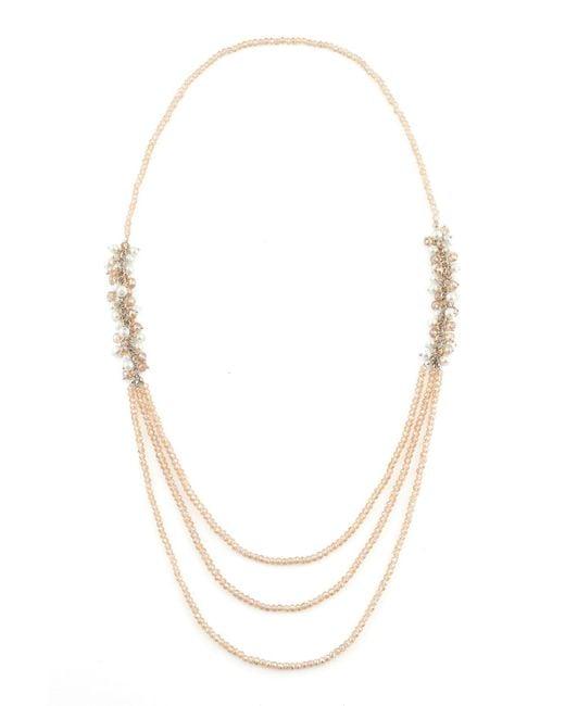 James Lakeland | Metallic Long Pearl Beaded Cluster Necklace | Lyst