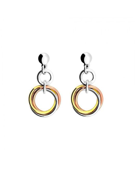 Azendi | Metallic Three Colour Love Knot Drop Earring | Lyst