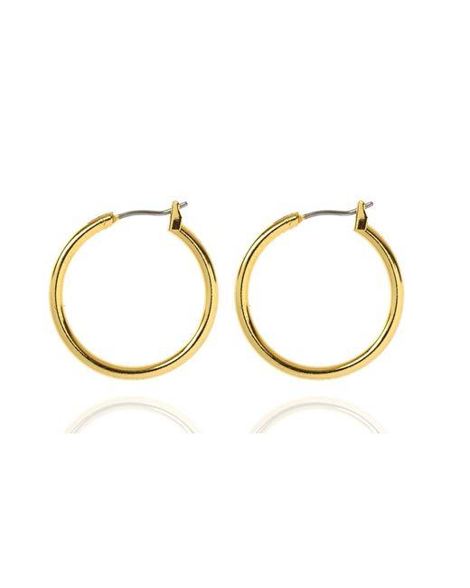 Anne Klein | Metallic Small Gold Hoop Earrings | Lyst