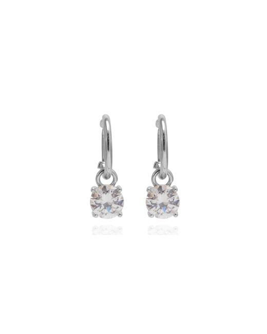 Anne Klein | Metallic Silver Crystal Stud Earrings | Lyst