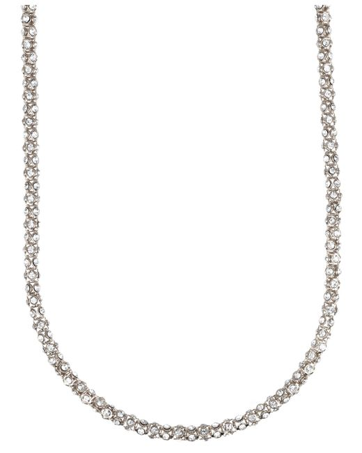 Anne Klein | Metallic Tubular Pave Strand Necklace | Lyst