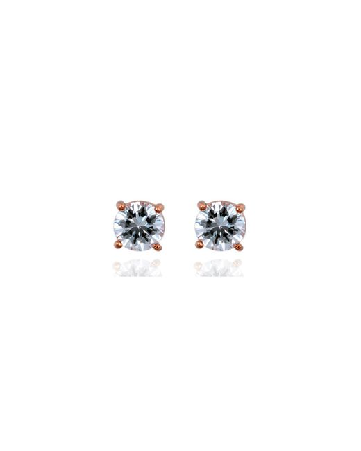 Anne Klein | Metallic Crystal Stud Earrings | Lyst