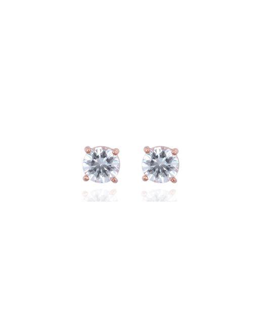 Anne Klein | Blue Rose Gold Crystal Drop Earrings | Lyst