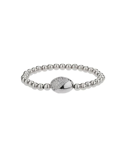 Mikey | Metallic Twin Crystal Oval Bead Bracelet | Lyst