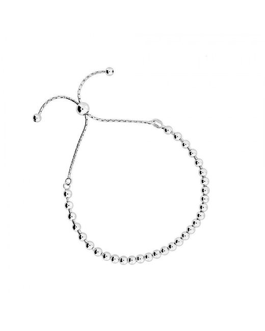 Azendi | Metallic Silver Adjustable Bead Bracelet | Lyst