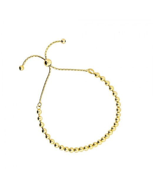 Azendi | Yellow Gold Vermeil Adjustable Bead Bracelet | Lyst