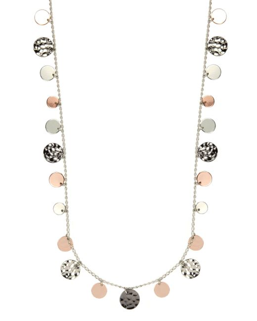Nine West | Metallic Tri Tone Strandage Long Necklace | Lyst