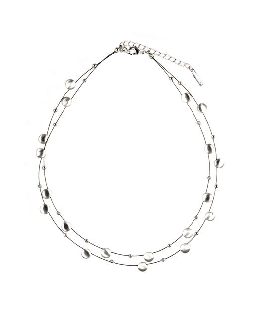 Nine West | Metallic 2 Row Section Necklace | Lyst