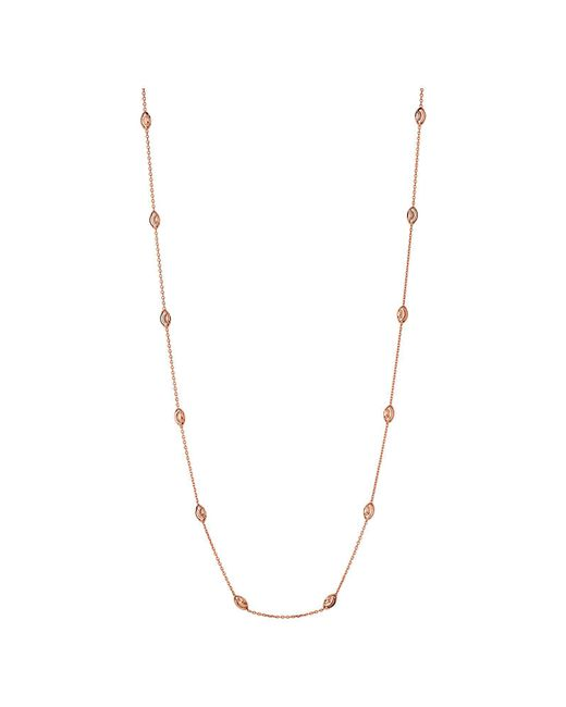 Links of London - Metallic Essentials Rose Beaded Necklace 60cm - Lyst