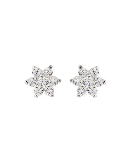 Mikey | Metallic Silver 925 Pins Daisy Crystal Stud | Lyst