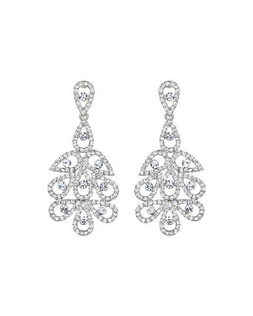 Mikey   Metallic Multi Oval Linked Crystal Drop Earring   Lyst
