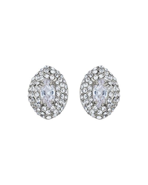 Mikey | Metallic Eclipse Crystal Top Stud Earring | Lyst