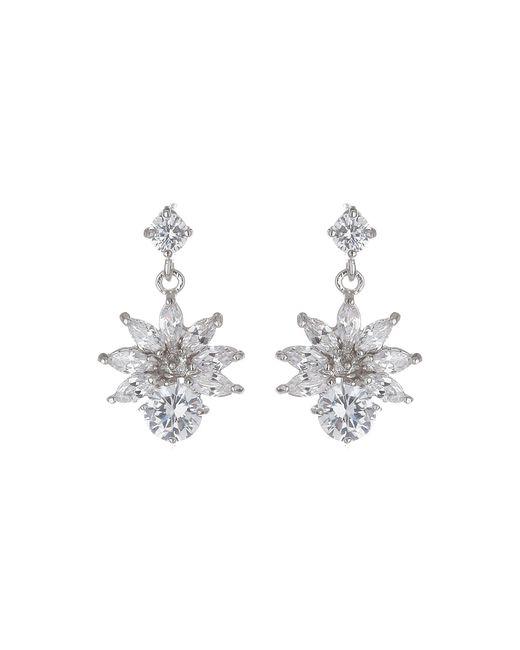 Mikey | Metallic Cubic Drop Flower Stud Earring | Lyst