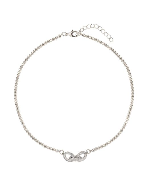 Mikey | Metallic Cubic Triple Crystal Ring Necklace | Lyst
