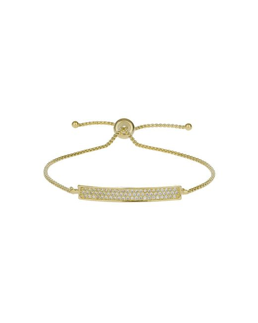 Mikey | Metallic Cubic Band Tie Up Bracelet | Lyst