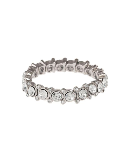 Mikey | Metallic Round Cased Cubic Linked Stones Bracelet | Lyst