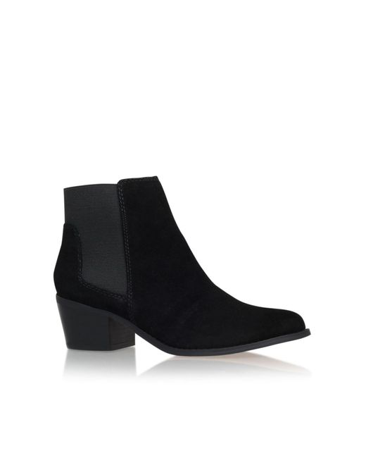 Miss Kg - Black Spider Low Block Heel Ankle Boots - Lyst
