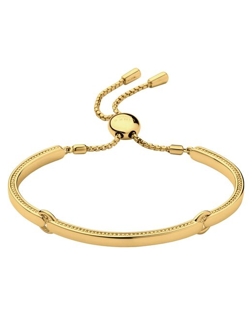 Links of London | Metallic 18ct Yellow Gold Vermeil Narrative Bracelet | Lyst
