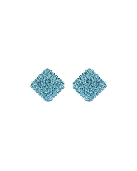 Mikey | Blue Square Earring | Lyst
