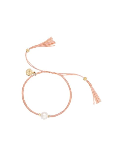Jersey Pearl | Multicolor Freshwater Pearl And Silk Bracelet | Lyst