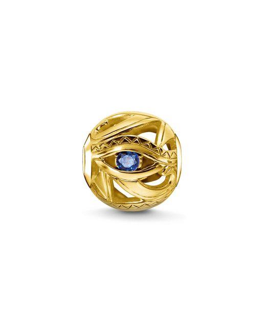 Thomas Sabo | Metallic Yellow Gold Eye Of Horus Karma Bead | Lyst