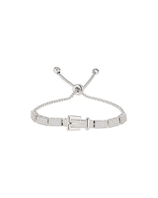 Mikey | White Cubic Belt Embed Tie Up Bracelet | Lyst