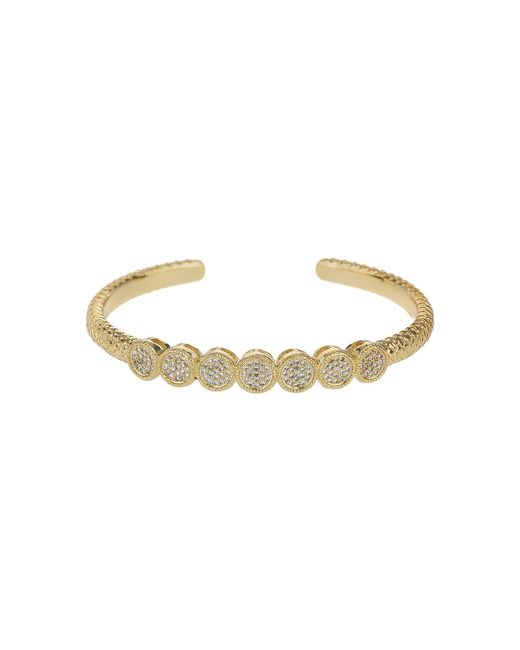 Mikey | Metallic 7 Round Embed Cubic Buttons Cuff Bangle | Lyst