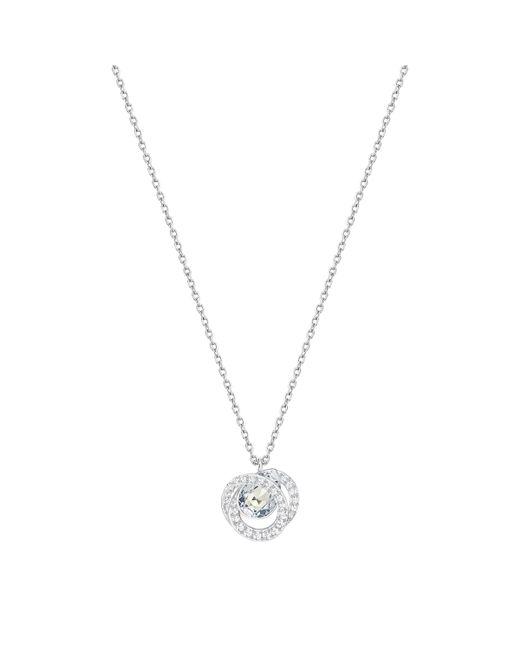 Swarovski - Metallic Generation Crystal Swirl Pendant Necklace - Lyst