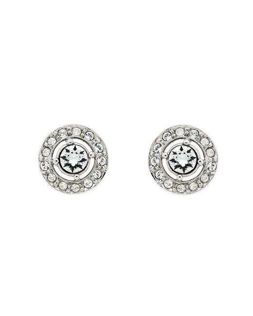 Melissa Odabash | Metallic Rhodium White Crystal Stud Earrings | Lyst